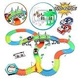 infinitoo Tracks Magique Circuit de Voiture Flexible Tracks Car | Une Piste 220 Pièces Modulable au Néon+2 Voitures Lumineuses + 40 Accessoires| Cool Cadeau pour Enfants à Partir de 3 Ans (220+40pcs)...