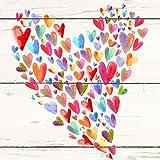 Ordner Motiv'Mit Liebe' | für Mädchen & Frauen | DIN A4 | ca. 8 cm breit | Motivordner mit Herz-Motiv, bunt - Schreibgefühl