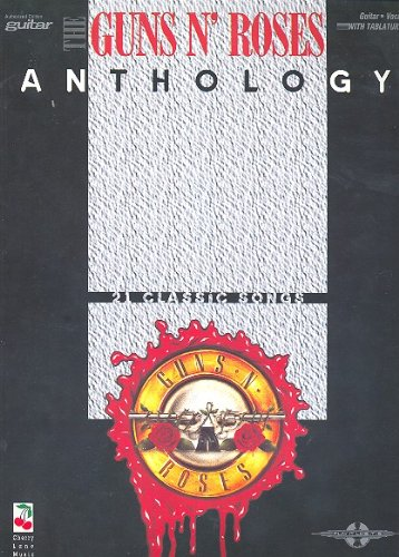 Guns N' Roses ANTHOLOGY songbook for voice/guitar/tab mit Plektrum -- 21 beliebte Hits u.a. mit APPETITE FOR DESTRUCTION und USE YOUR ILLUSION arrangiert für Gitarre und Gesang (Noten/sheet music) - And Tab Roses Guns