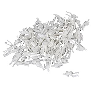 BQLZR New White Unpainted Architectural 1:100 Scale Model Figures Pack of 100