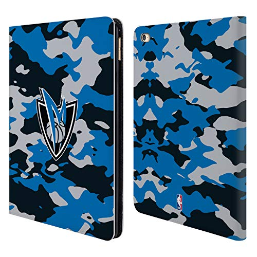 Head Case Designs Offizielle NBA Camouflage 2018/19 Dallas Mavericks Leder Brieftaschen Huelle kompatibel mit iPad Air 2 (2014) - Maverick Leder