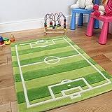The Rug House Tappeto Gioco Per Bambini Campo Da Calcio Resistente 70 x 100cm