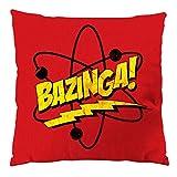 CottonCloud Sheldon Atom Kissen mit Füllung 28 x 28 cm Baumwollbezug