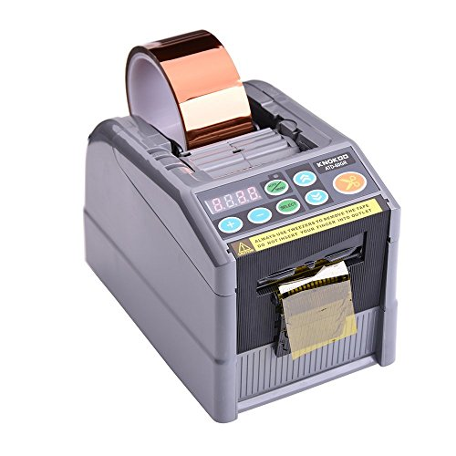KNOKOO ZCUT-9/RT-7000 Automatische Bandabroller Upgrades ATD-60GR Electronic Packaging Klebebandspender Klebstoff mit Cycle Cutting-Funktionen, Max Bandbreite 60 mm, 6 voreingestellte Schnittlängen (Stück-zähler 9)