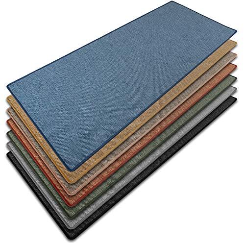 Teppich / Läufer Sabang | blau, Sisaloptik | Qualitätsprodukt aus Deutschland | GUT Siegel | kombinierbar mit Stufenmatten | viele Breiten und Längen (80x150 cm) Küchenläufer Flurläufer Teppichläufer