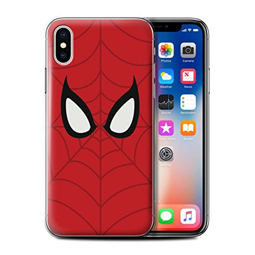 Stuff4® Hülle/Case für Apple iPhone X/10 / Spider-Man Maske Inspiriert Muster/Superheld Comic-Kunst Kollektion Iphone Mobile-skin