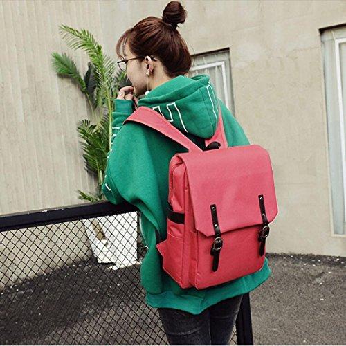 BZLine® Unisex Casual Wandern Notebook Tasche Rucksack, 30cm*13cm*40cm Rot