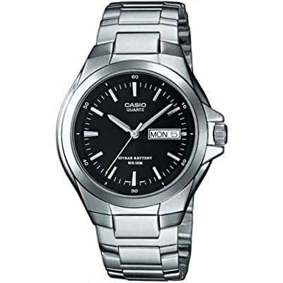 CASIO MTP1228D1AVEF - Reloj de caballero de cuarzo, correa de acero inoxidable color plata