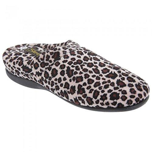 Sleepers Carmen - Chaussons Mules à Motif léopard - Femme
