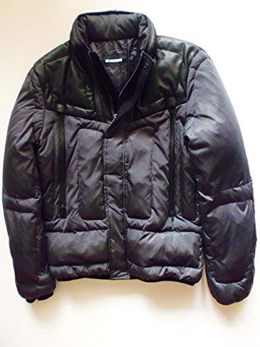 dirk-bikkembergs-veste-piumino-down-jacket-veste-duvet-gris-avec-application-en-cuir-taille-48