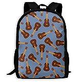 TRFashion Vintage Guitars Blue Jazz Fashion Outdoor Shoulders Bag Durable Travel Camping for Adult Backpacks Sac à Dos