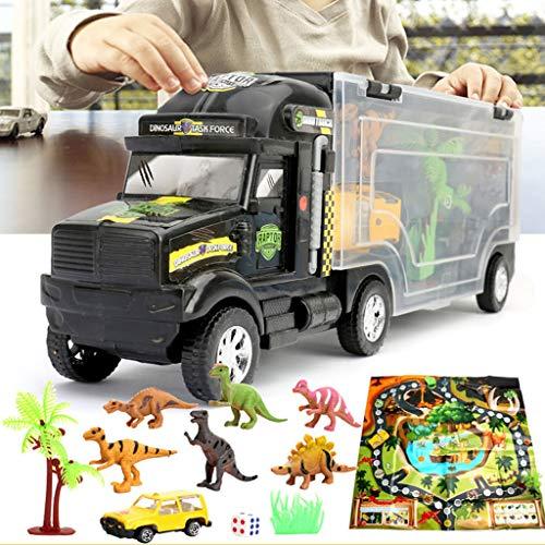 Mini T Rex Kostüm - 12shage Tragbarer Dinosaurier Autotransporter Spielzeug mit