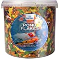 Sakana Nutritious Pond Fish Flakes - Complete Balanced Daily Feed Pond Dwelling Fish Food by Sakana