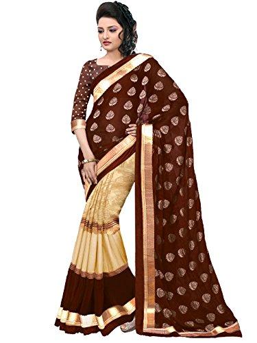 Trendz Cotton Silk saree(TZ_Nakshtra_Brown)