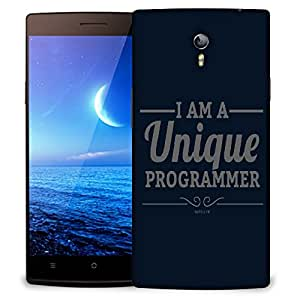 Snoogg I Am A Unique Programmer Designer Protective Back Case Cover For OPPO FIND 7