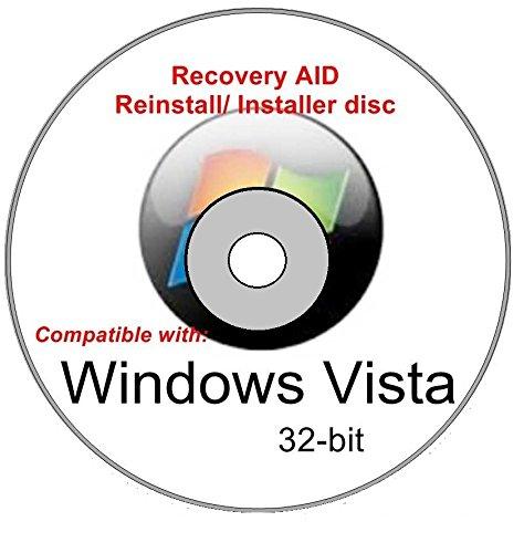 Windows Vista Home Premium 32-bit New Full Re Install Operating System Boot Disc - Repair Restore Recover DVD