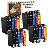D&C 20Set Druckerpatronen kompatibel für Epson T711-T714 für Epson Stylus DX4400 DX4050 SX215 SX210 SX205 DX4000 DX7400 DX5000 DX9200 SX200 DX6000 DX9400F DX4450 DX7450 SX600FW BX600FW BX3450F
