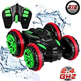 POBD RC Car Amphibious Waterproof Stunt Remote Control Vehicle 2.4GHz 4WD Off Road