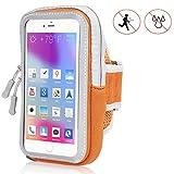 Handy Schutzhülle Tasche | für Doogee Y6 Max/ 3D | Sport armband zum Laufen, Joggen, Radfahren | SPO-2 Orange