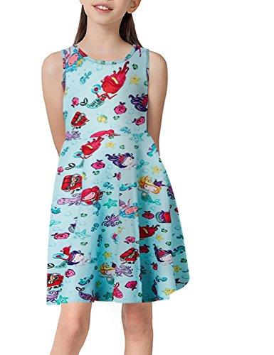 Chicolife kinder kleidung 7-9t mädchen kleid kleine prinzessin a - line umfasst kleid (Kleine Mädchen Maxi-kleid Für)