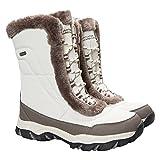 Mountain Warehouse Stivali da Donna Invernali Ohio - Impermeabili, Caldi e Ideali per Neve e Doposci Beige 39