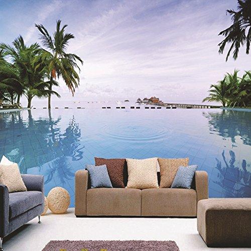 BBSLT Camera da letto Oceano Palm Beach paesaggi antistatiche stain