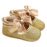 Wokee Infant Kids Soft Sole Krippe Neugeborenen Schuhe(2, Gold)