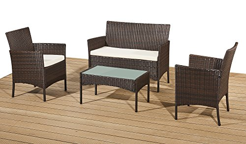 Rattan Garden Furniture Set Patio Conservatory Indoor Outdoor 4 ...