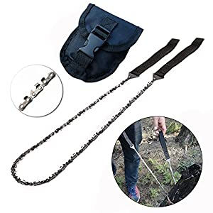 51%2BbGD0BEjL. SS300  - GZQ Chain Saws Portable Pocket Gardening Saws with 11 Teeth with Pouch for Cutting Thick Trees or Hardwood in Camping et Outdoor Activities