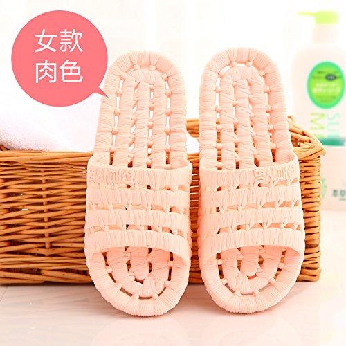 DogHaccd pantofole,Il bagno pantofole estate uomini e donne giovane stare a casa l'anti-slittamento esposti bagnomaria pavimento di plastica cool pantofole Colore1