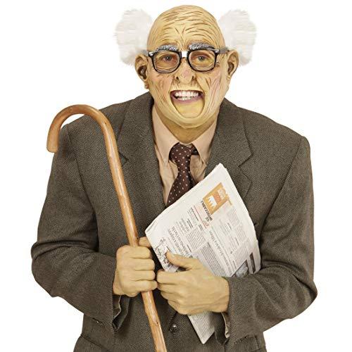 Amakando Rentner Latexmaske mit Haaren Greis / Runzelige Haut / Gummimaske Professor / EIN Highlight zu Fastnacht & - Tourist Kostüm Zubehör