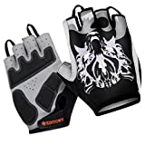 XINTOWN Ciclismo guantes-mitones manoplas media con fantasma lobo, color , tamaño XL