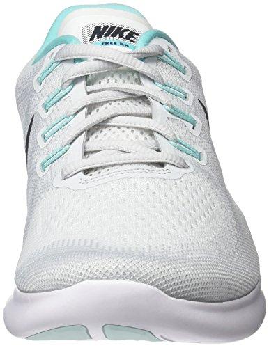 Nike Damen Wmns Free RN 2017 Laufschuhe Weiß (White/anthracite-pure Gris Platinum-aurora Green)