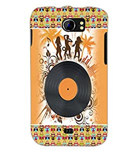 PrintDhaba Music D-4188 Back Case Cover for MICROMAX A110Q CANVAS 2 PLUS (Multi-Coloured)