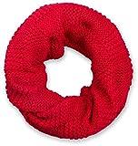 styleBREAKER Strick Loop Schal mit Patentmuster, Uni Feinstrick Schlauchschal, Winter Strickschal, Unisex 01018152, Farbe:Rot