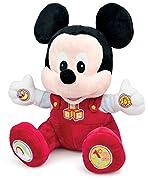 Clementoni - BABY MICKEY gioca e impara con il tenero topolino peluche 14636