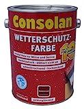 Consolan Wetterschutz-Farbe 5L (Dunkelbraun)