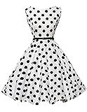 1950s vintage retro rockabilly kleid abschlussballkleid partykleid sommerkleid kurz Größe M CL6086-6