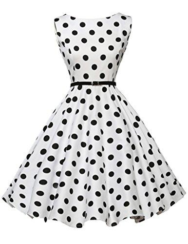 1950s vintage retro rockabilly kleid abschlussballkleid partykleid sommerkleid kurz Größe M...