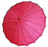 AAF Nommel ® Deko- Kinder- Sonnenschirm aus Stoff und Holz pink, 077