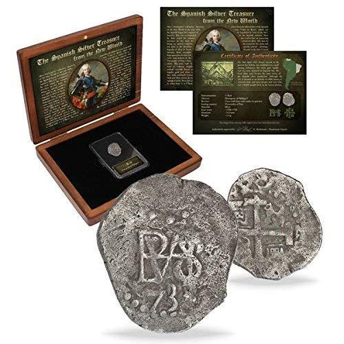 IMPACTO COLECCIONABLES Spanien Münzen - Silbermünze aus den Alten spanischen Kolonien. Geprägt zwischen 1.700 und 1746
