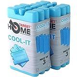 Target Homewares® - Panetti refrigeranti riutilizzabili, raffreddano e mantengono freschi i cibi, da usare con borsa frigo Target per un maggiore raffreddamento Confezione da 6