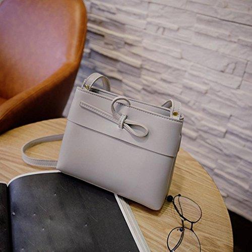 Hunpta Messenger Taschen Fashion Mini Tasche Shell Form Tasche Frauen Schulter Taschen Gray