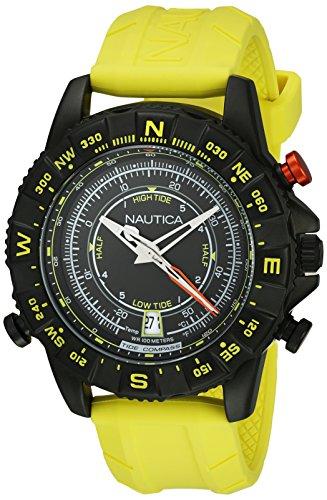 nautica-nai21000g-montre-homme-quartz-analogique-cadran-noir-bracelet-silicone-jaune