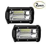 Favoto 2 x 36W LED Arbeitsscheinwerfer Auto Offroad Zusatzscheinwerfer Bar Car LED Work Light IP67 Wasserdicht für SUV UTV ATV Jeeps LKW Traktoren Geländefahrzeuge