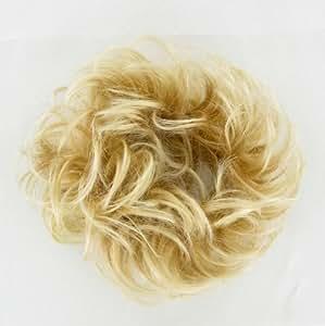 chouchou chignon cheveux blond doré méché blond très clair ref: 17 en 24bt613