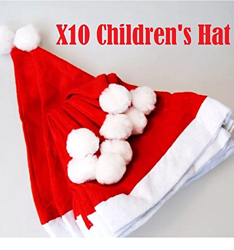 Felt Christmas Santa Hat Xmas Kids Fancy Dress Accessory W20339 ()