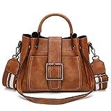 Oliviavan borse di cuoio 'spalla crossbody borsa & borsa stile classico grande capacità (26.5*11.5*21cm, Marrone)