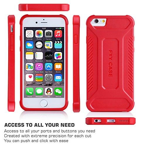 Coque iPhone SE, Coque iPhone 5S, Coque iPhone 5, Fyy® [Léger] [Épais Convenable] Coque de protection pour Apple iPhone SE/5S/5 Bleu Foncé C-Rouge