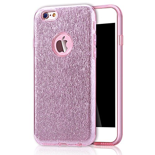 TPU Coque pour iPhone 6 Plus/ 6S Plus, Sunroyal® Bling Crystal Case Etui Soft Silicone Gel Ultra Mince Prime Flex Skin Protection Back Cover - Rose Rose
